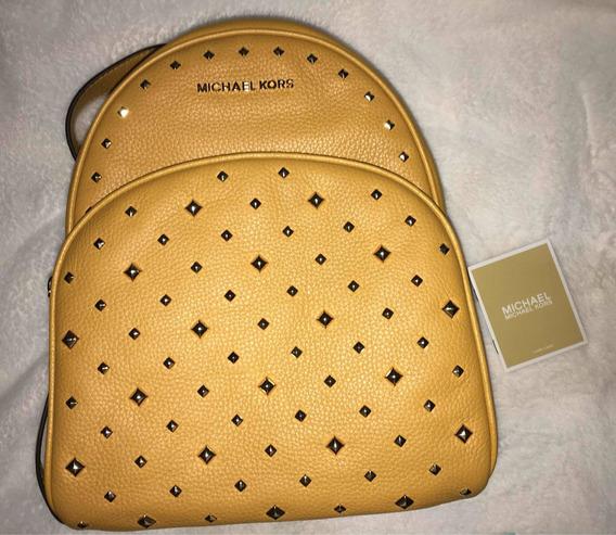 Backpack, Mochila Michael Kors Abbey Studded Medium