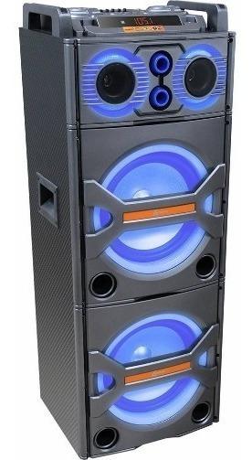 Caixa De Som Amplificada 600w Dj Bluetooth Usb Lenoxx Ca3600