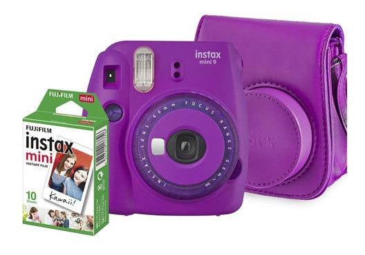 Kit Câmera Fujifilm Instax Mini 9 Roxo Açai - 705065384