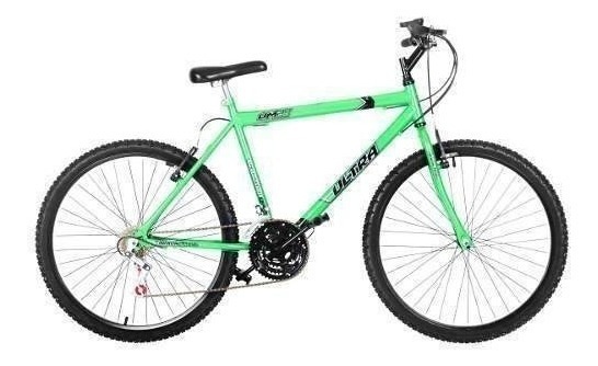 Bicicleta Bike Ultra Masculino Aro 26 Verde Kw Freio V Brake