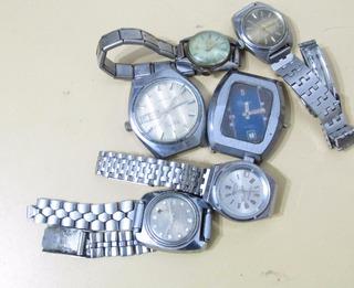 Lote De Relojes Antiguos P/repuestos Completos Britix B093
