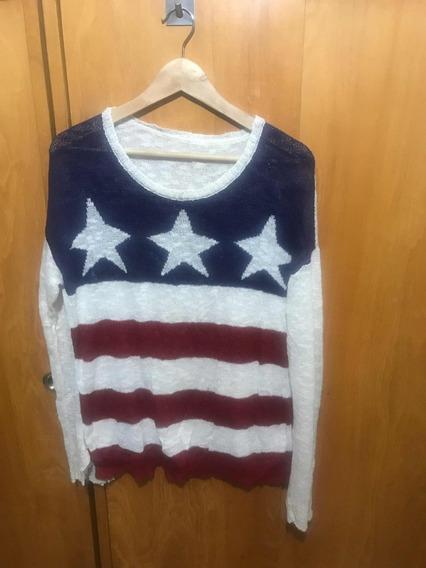 Sweater Liviano De Hilo. Talle Xl.