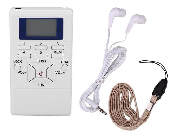 Rádio Bolso Portátil Com Bateria Fm - O Melhor Recepção