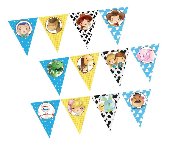 Banner Banderin Toy Story Super Cool Fiesta