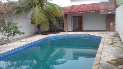 Linda Casa Com Piscina À Venda Ou Locação Definitiva, Jardim Belas Artes, Itanhaém. - Ca0651