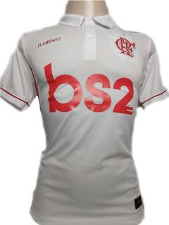 Camisa Do Flamengo Polo Branca Preta