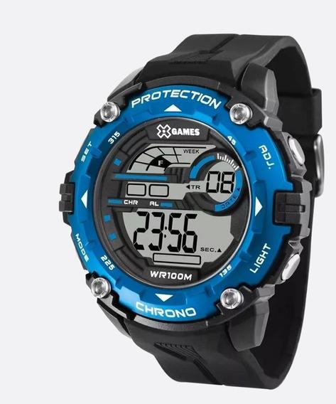 Relógio Masculino Digital Xgames Xmppd548 - Azul!!! -novo!!!
