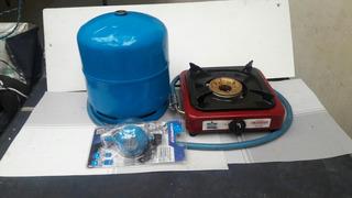 Combo/cocineta/tanque Gas Recargable/valvula Italiana Nueva.