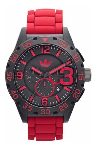 Relógio adidas Adh2793 Masculino Vermelho Novo Original