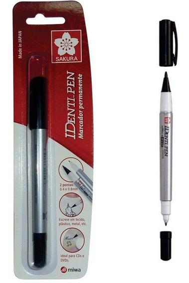 Pincel Marcador Permanente 2 Pontas 0,4/1,0mm Identi Pen Sak