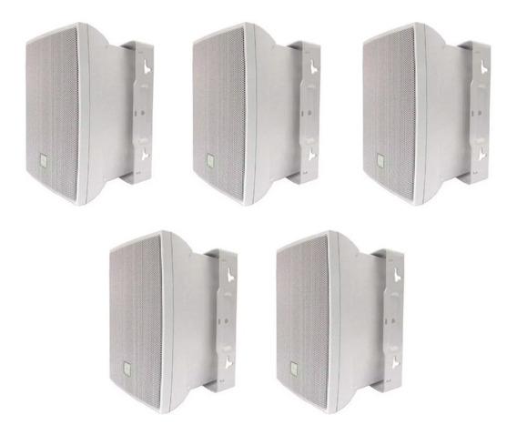 Kit C/ 5 Caixas De Som Ambiente Jbl C521 C521b 80w Branco