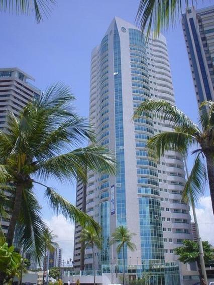 Flat Mobiliado Com 1 Dormitório À Venda, 40 M² Por R$ 460.000 - Boa Viagem - Recife/pe - Fl0084