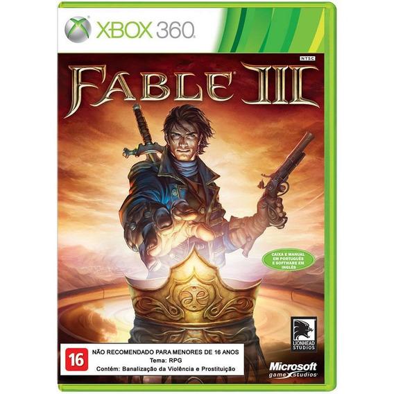 Game Fable Iii- Jogo De Xbox 360 - Original - Mídia Física