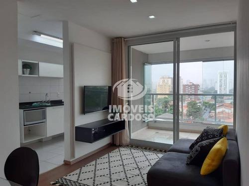Imagem 1 de 20 de Apartamento Com 1 Dormitório, 44 M² - Venda Por R$ 740.000,00 Ou Aluguel Por R$ 3.900,00 - Brooklin - São Paulo/sp - Ap8324