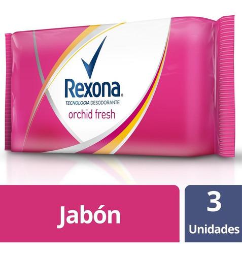 Rexona Orchid Fresh 3 Unidades X 125 Gr Jabon En Barra