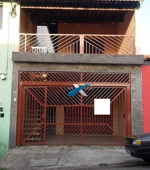 Sobrado 3 Dorms. Sendo Uma Suíte Com Salão Comercial Na Vila Nova Cintra, Mogi Das Cruzes/sp - So0109