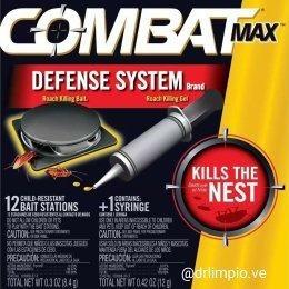 Combat Estaciones Más Gel Cucarachas Y Chiripas