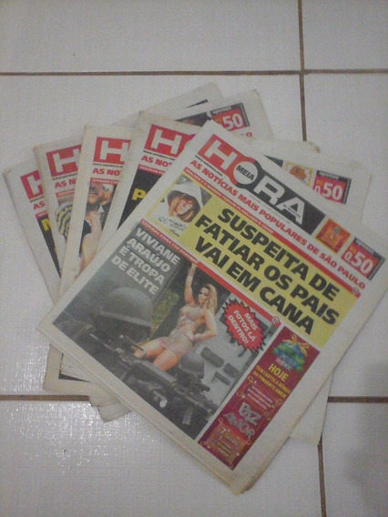 Lote 5 Jornais Meia Hora Noticias Sp 2010