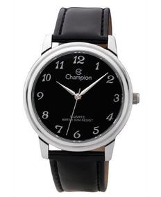 Relógio Analógico Cromado Original Mondaine Pulseira Camurça
