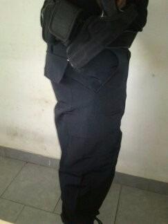 Pantalon De Combate Tela Rip Stop Tactico Negro Y Azul