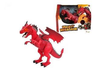 Dragon Articulado Camina Luz Y Sonido Mighty Megasaur 80073