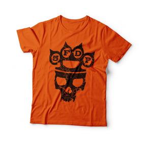 Camisa Caveira Rock Five Finger Death Punch 5fdp Frete Free