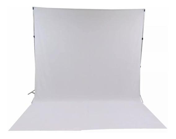 1 Tecido 3x2 Branco + Suporte Fundo Infinito Fotografia Foto