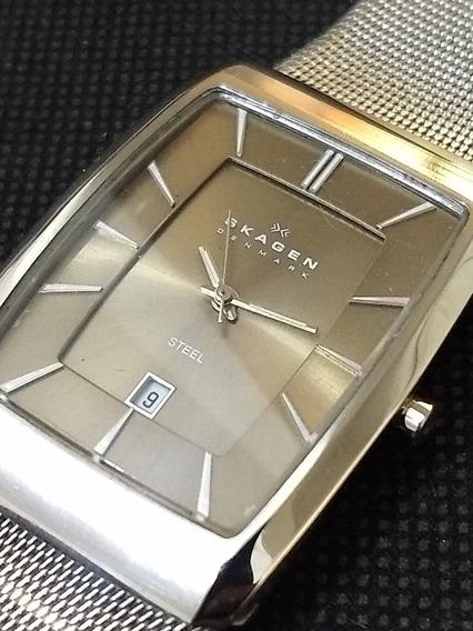 Relógio Skagen Extra Slim Pulseira Esteira Bracelete = Seiko
