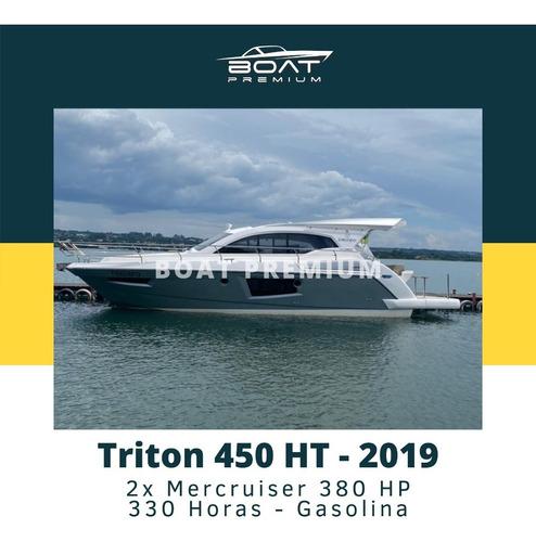 Imagem 1 de 12 de Triton 450 Ht, 2019, 2x Mercruiser 380 Hp - Coral - Real
