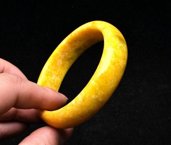 Pulsera Smithsonita De Zinc Dorado Amarillo