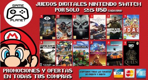 Juegos Digitales - Nintendo Switch Desde 15usd Ver Imagenes