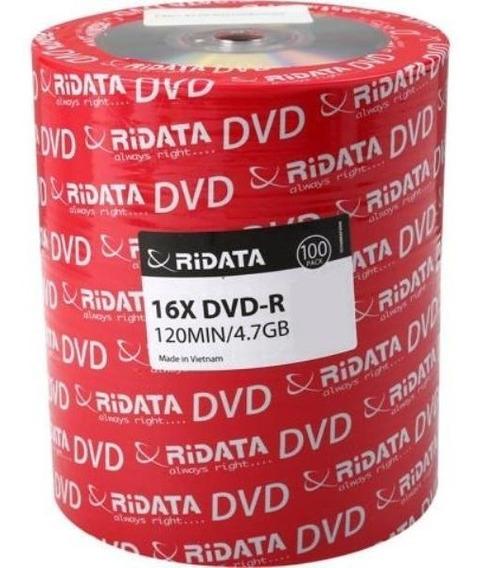 Dvd-r Marca Ridata 100 Pzs