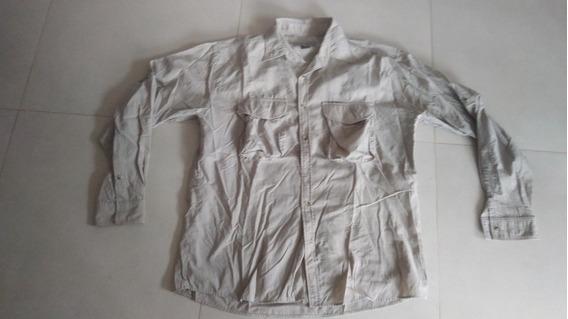 Camisa Explora Pesca- Mangas Largas- Beige- Xl