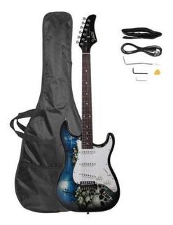 Blue - Nueva Glarry 4 Color Tilo 22 Trastes Guitarra El-5215