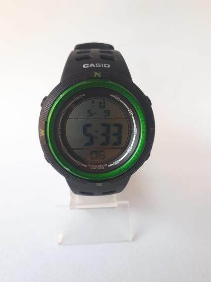 Relógio Masculino Digital Caixa Arredondada Á Prova D