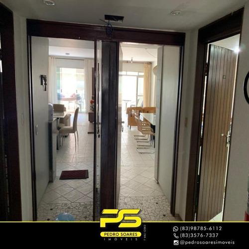 Alugo Apartamento Com 3 Dormitórios Para Alugar, 110 M² Por R$ 14.000/mês - Camboinha - Cabedelo/pb - Ap3473