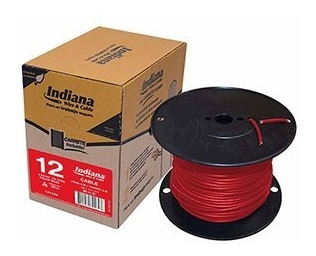 Cable Eléctrico Thw #12 Caja Con 100 Mtrs Indiana