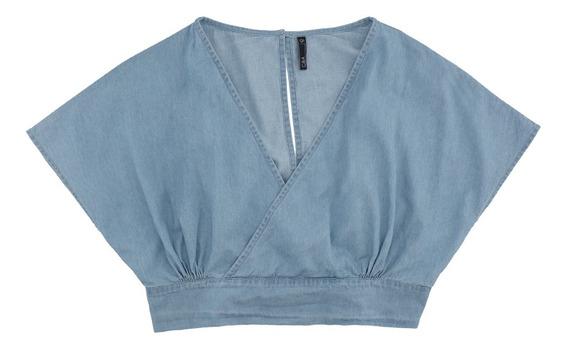 Blusa Crop Denim De Mujer C&a 1056835