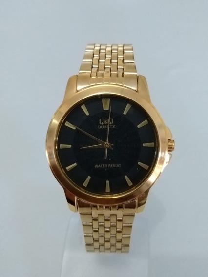 Relógio Feminino Dourado Q&q Q422-002y