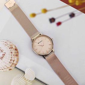 Relógio Feminino Curren 9021 Luxo, Charme E Elegância