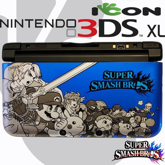 Nintendo 3ds Xl 3 Ds Azul Edição Super Smash Bros - Raro