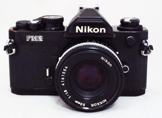 Câmera Nikon Fm 2 Com 50mm F1,8