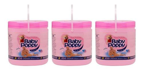 Opus Baby Poppy Rosa Lenços Umedecidos C/450 (kit C/03)