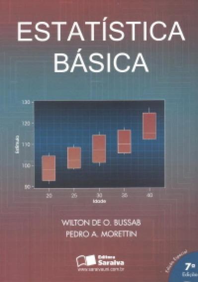 Estatística Básica - Sétima Edição - Saraiva S/a Livrei
