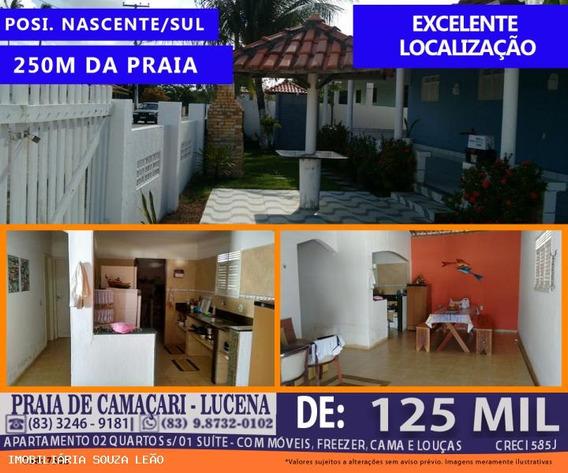 Casa Para Venda Em Lucena, Praia De Camaçari, 2 Dormitórios, 1 Suíte, 1 Banheiro, 1 Vaga - 7502