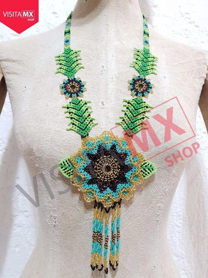 Collar Flor Juego Dorado, Turquesa Y Morado - 140753