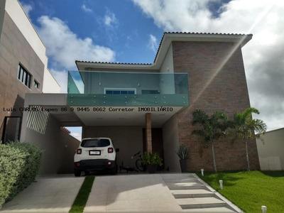 Casa Em Condomínio Para Venda Em Teresina, Terras Alphaville Teresina, 4 Dormitórios, 4 Suítes, 5 Banheiros, 4 Vagas - Casa Terras Alphaville 750