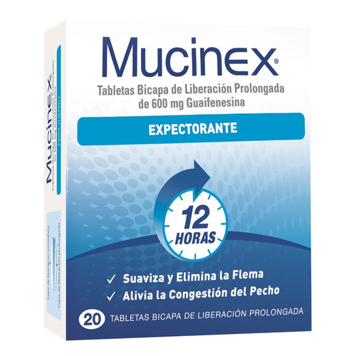 Mucinex Expectorante 600mg X 20 Tabletas