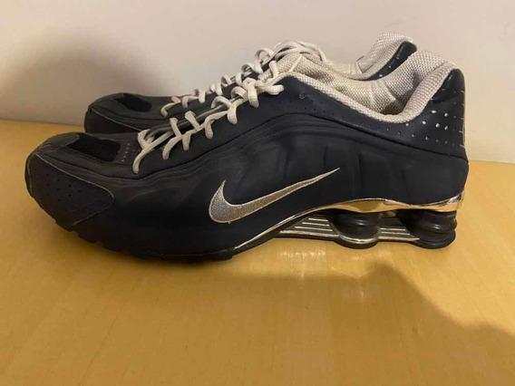 Nike Shox R4 Azul/ Cromado Raro