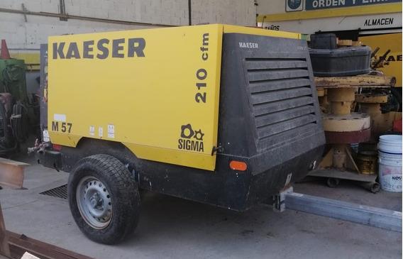 Compresor Kaeser M57 210 Cfm Con Solo 732 Hrs De Uso
